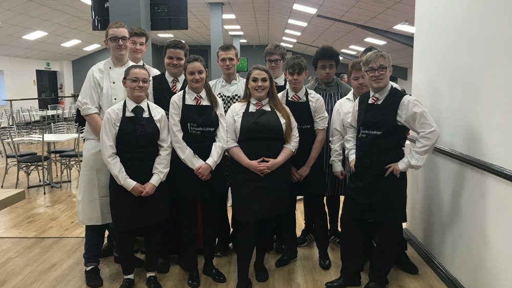 Students serve up a feast at Sincil Bank | Lincoln College